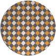 rug #672069 | round light-orange check rug
