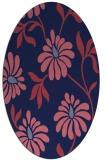 rug #674629 | oval pink natural rug