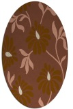 rug #674681 | oval mid-brown natural rug
