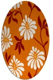 rug #674729 | oval orange natural rug
