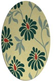 rug #674741 | oval yellow rug