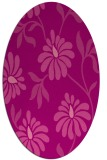 rug #674745 | oval pink natural rug