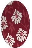 rug #674749 | oval pink natural rug
