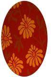 rug #674781   oval red natural rug