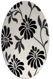 rug #674809 | oval white natural rug
