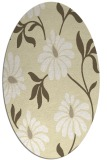 rug #674829 | oval white natural rug