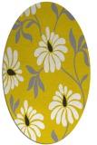rug #674837 | oval yellow natural rug