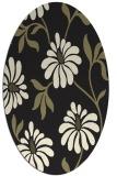 rug #674845 | oval black natural rug