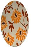 rug #674853 | oval orange rug