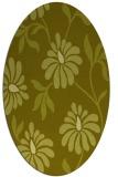 rug #674857 | oval light-green rug