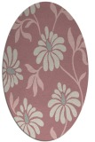 rug #674877   oval pink rug