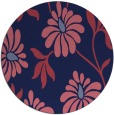 rug #675333   round pink natural rug