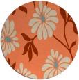 rug #675437 | round beige natural rug