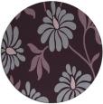 rug #675477 | round purple natural rug