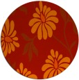 rug #675485 | round red natural rug