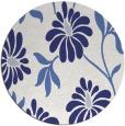 rug #675521 | round blue natural rug