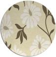 rug #675533 | round white rug