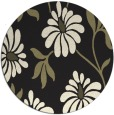 rug #675549 | round black natural rug