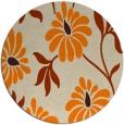 rug #675557   round orange natural rug