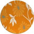 rug #675585 | round light-orange natural rug