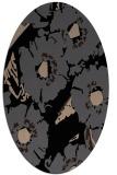 rug #676309 | oval black natural rug