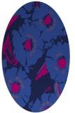 rug #676325 | oval blue popular rug
