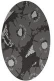 rug #676497 | oval orange rug