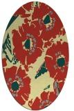 rug #676501 | oval blue-green natural rug