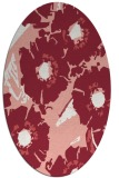 rug #676517 | oval white rug