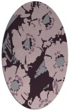 rug #676533 | oval purple rug