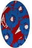 rug #676537 | oval red popular rug