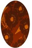 rug #676553 | oval red-orange natural rug