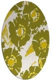 rug #676573 | oval white rug