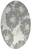 rug #676581 | oval white natural rug