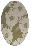 rug #676621 | oval light-green rug