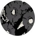 rug #677005 | round black natural rug