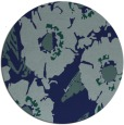 rug #677033   round blue-green natural rug