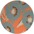 rug #677197 | round orange popular rug