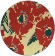rug #677205 | round yellow popular rug