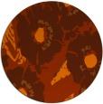 rug #677257 | round red-orange natural rug