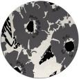 rug #677273 | round black popular rug