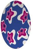 rug #679921   oval blue-violet graphic rug