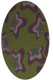 rug #679953 | oval green rug