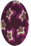 rug #680045 | oval purple rug