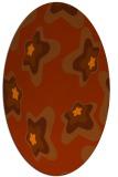 rug #680073 | oval red-orange graphic rug