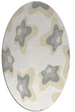 rug #680101 | oval white graphic rug