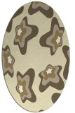 rug #680109 | oval yellow graphic rug