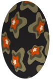 rug #680125 | oval black graphic rug