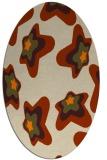 rug #680133 | oval beige graphic rug