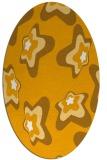 rug #680153 | oval light-orange graphic rug